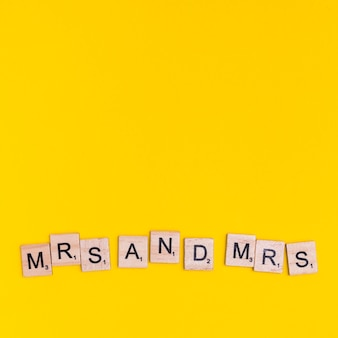 Text mrs and mrs