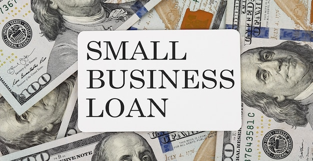 Text small business loan on the dollars