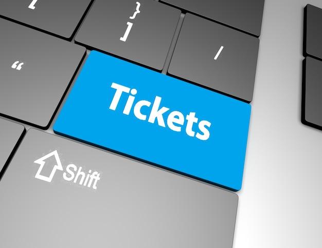 텍스트 티켓 버튼, 3d 렌더링