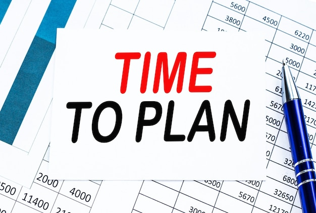 Text time to plan on financial tables, the working paper