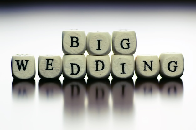 Текстовый свадебный куб