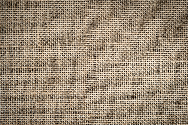 Textile brown jute for texure and background