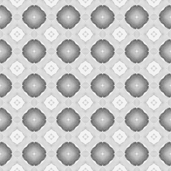 Текстиль готов, стильный принт, ткань для купальников, обои, упаковка. черно-белый мощный летний дизайн в стиле бохо-шик. ручная роспись плиткой акварель границы. плиточный акварельный фон.
