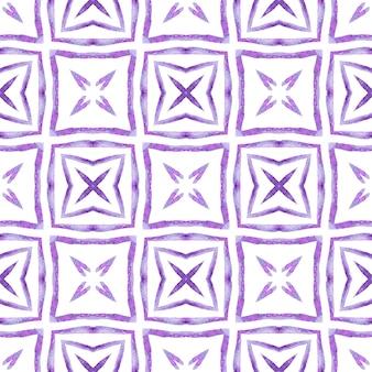 Textile ready delightful print, swimwear fabric, wallpaper, wrapping. purple fabulous boho chic summer design. tropical seamless pattern. hand drawn tropical seamless border.