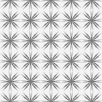 テキスタイルレディディバインプリント、水着生地、壁紙、ラッピング。黒と白のエネルギッシュな自由奔放に生きるシックな夏のデザイン。アラベスク手描きデザイン。東洋のアラベスク手描きの境界線。