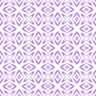 Textile ready elegant print, swimwear fabric, wallpaper, wrapping. purple resplendent boho chic summer design. watercolor summer ethnic border pattern. ethnic hand painted pattern.