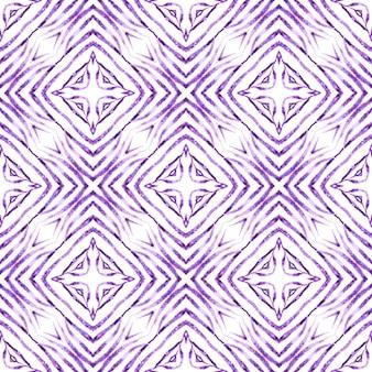 Текстиль готовый необычный принт, ткань купальников, обои, упаковка. фиолетовый гипнотический бохо шикарный летний дизайн. полосатый рисованной дизайн. повторение полосатой рисованной границы.