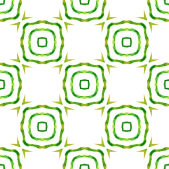 Textile ready pleasing print, swimwear fabric, wallpaper, wrapping. green fantastic boho chic summer design. exotic seamless pattern. summer exotic seamless border.