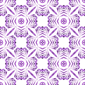 Textile ready positive print, swimwear fabric, wallpaper, wrapping. purple stylish boho chic summer design. arabesque hand drawn design. oriental arabesque hand drawn border.