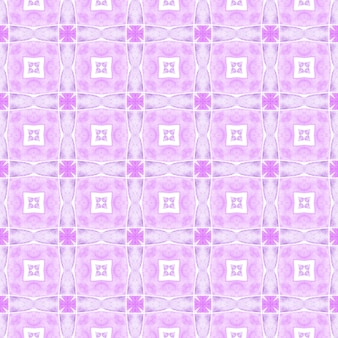 Textile ready stylish print, swimwear fabric, wallpaper, wrapping. purple alluring boho chic summer design. ethnic hand painted pattern. watercolor summer ethnic border pattern.