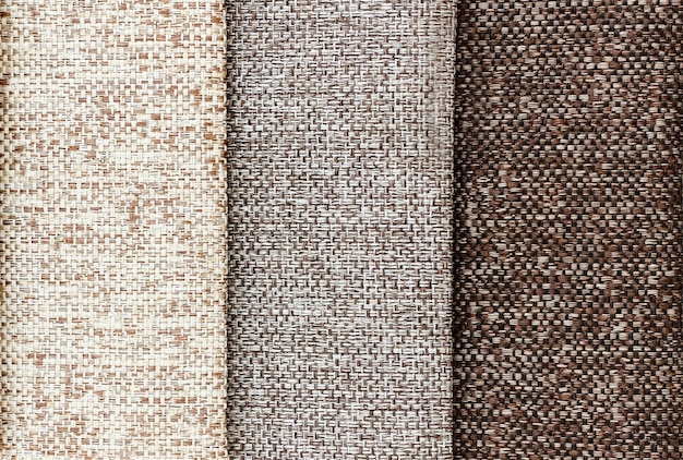 Textiles in brown shades. background fabric close-up.