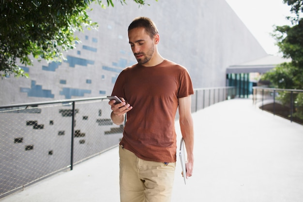 Texting a message while walking