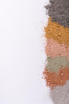 다른 화장품 점토 진흙 가루에서 텍스처 그라데이션