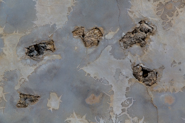 The texture of an ancient chinese stone wall made of stones corals and seashells