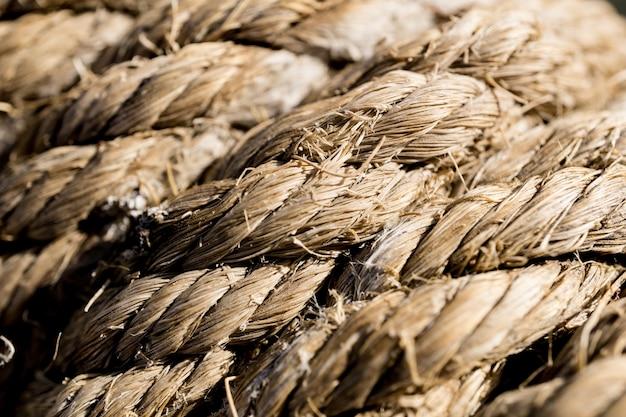 Текстура и узор старой коричневой веревки