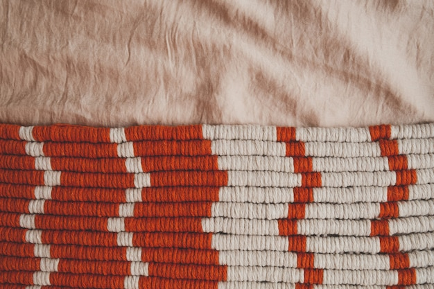 Texture background of cotton ropes in pastel tones