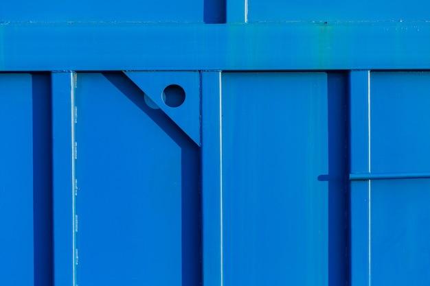 푸른 색의 질감 배경 금속 벽 용접 건설