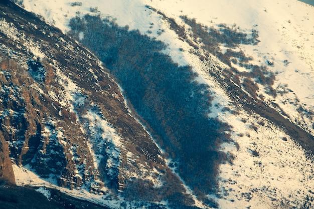 冬の山のテクスチャ背景