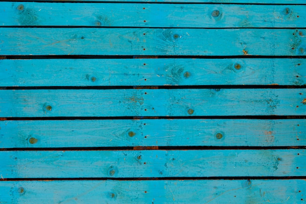 Текстура фона старой деревянной стены окрашены в синий цвет