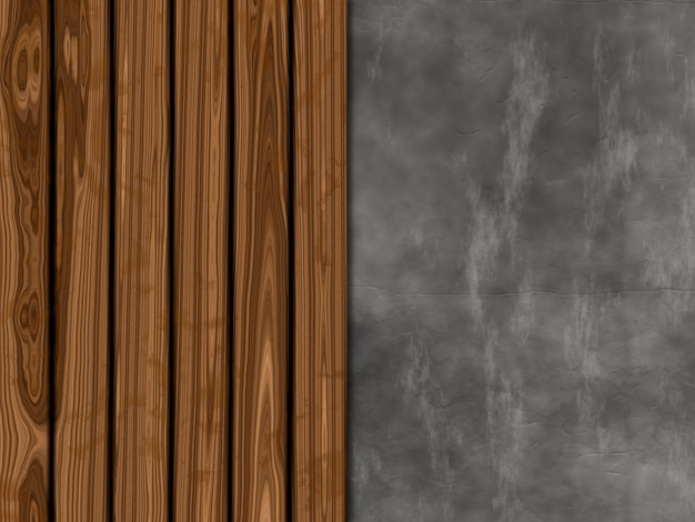 Texture background with old wood and concrete