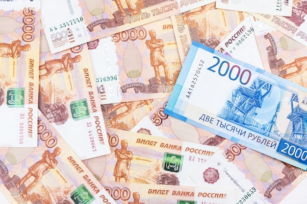 Texture of the banknotes