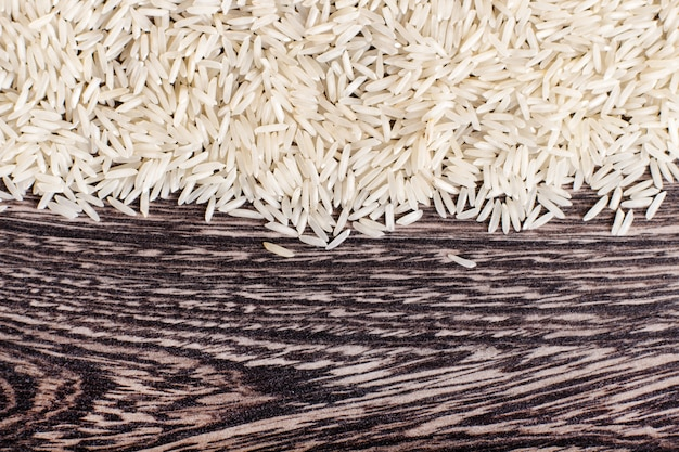 Texture of basmati rice
