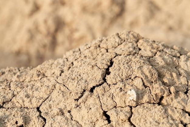 질감 베이지 또는 갈색 크럼프 모래.