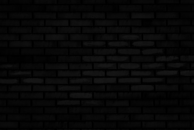 Texture of black brick wall of an old house.