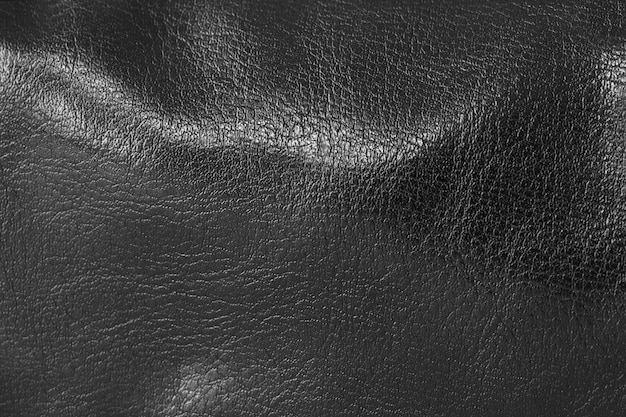 Texture of black leather background