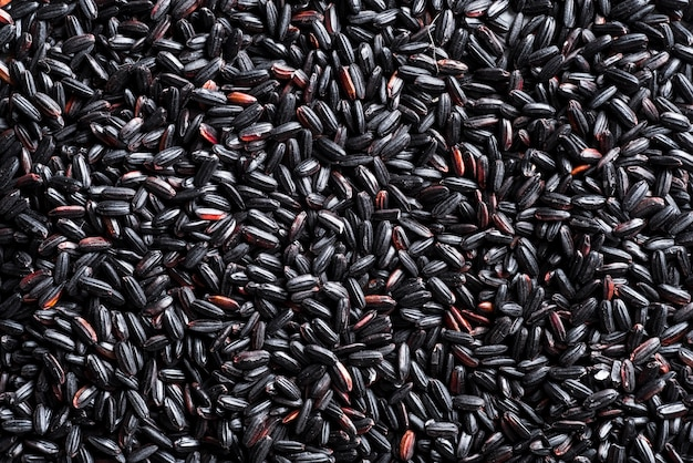 Texture of black rice