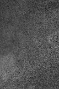 Texture of black sheepskin cow leather processed