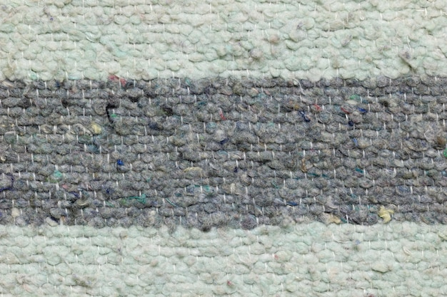 Texture of blanket made by rag fabric.