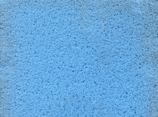 Texture of blue foam rubber background