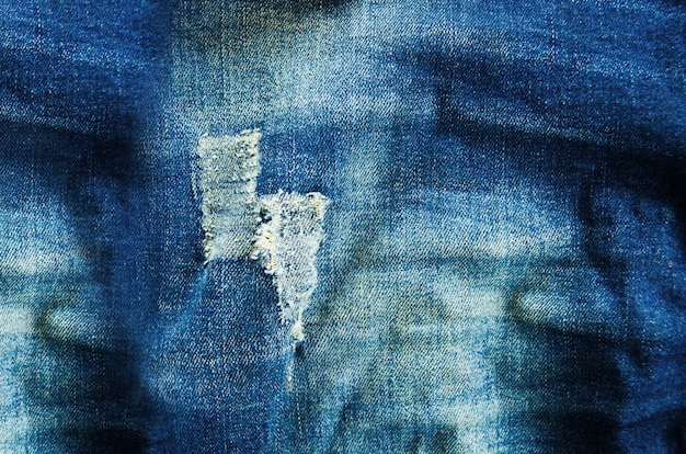 Texture of blue jean