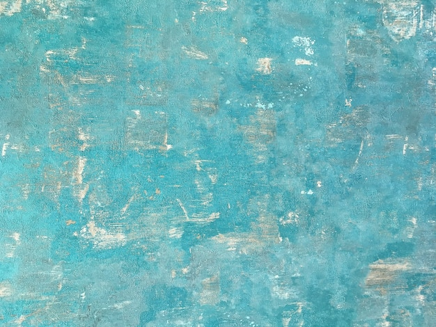 Texture of a blue old shabby wooden background. structure of a vintage turquoise painted coating of wood.