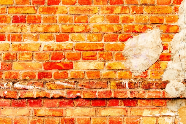 Texture, brick, wall,  background. brick texture with scratches and cracks