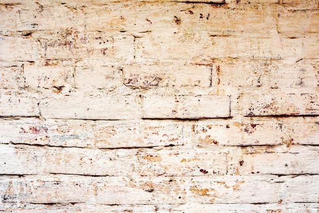 질감, 벽돌, 벽, 배경으로 사용할 수 있습니다. 긁힘 및 균열이있는 벽돌 질감