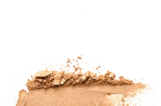 Texture of broken eyeshadow or powder. the concept of fashion and beauty industry. close-up. copy space.