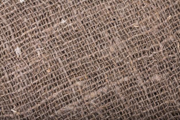 Texture of burlap closeup