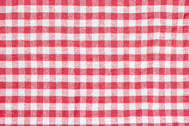 Texture of checkered tablecloth