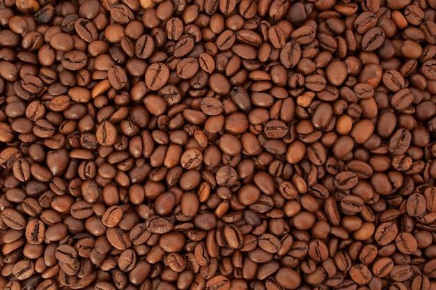 テクスチャのコーヒー豆のクローズアップ