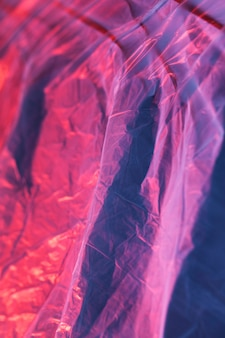 Texture of colorful plastic bag