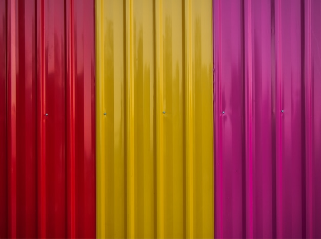 Texture of colorful zinc sheets wall background