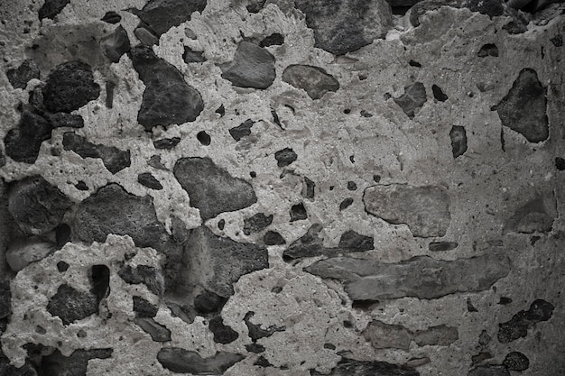 The texture of concrete and stone
