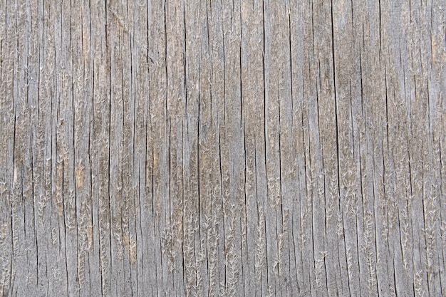 The texture of a cracked wooden board with fibers on the surface