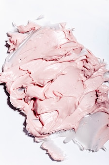 The texture of the cream closeup