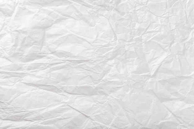 Texture of crumpled white wrapping paper,  old background