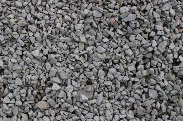 The texture of crushed stone is close-up