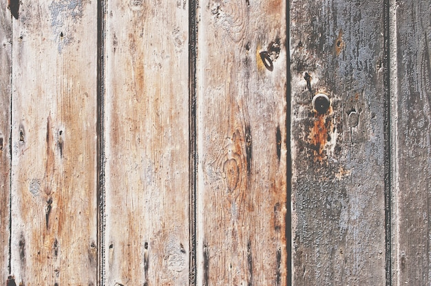 Texture of damaged wooden panels