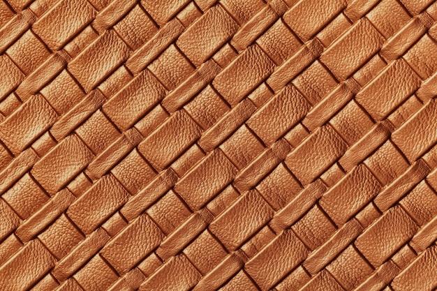 Texture of dark orange leather background